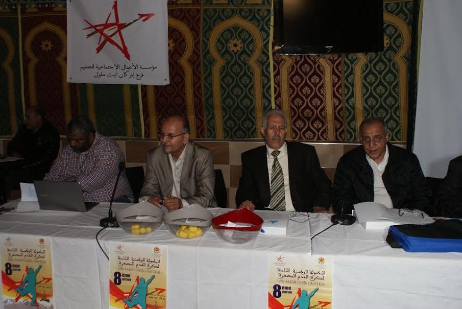 ندوة صحفية لتسليط الضوء على تنظيم البطولة الوطنية الثامنة لكرة القدم المصغرة