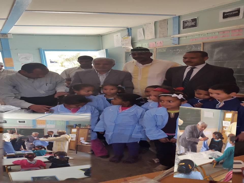 نيابة زاكورةتشرف على توزيع الزي المدرسي بجماعة افرا