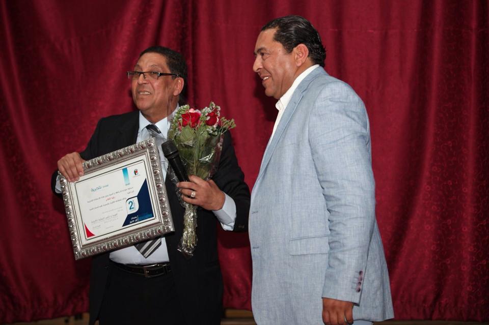 تكريم الأستاذ الفنان أحمد راشد العلام في مهرجان بن كرير للسينما