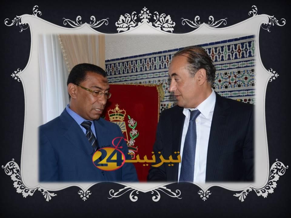 تكريم رئيس دائرة أنزي بعد ترقيته لمنصب كاتب عام بولاية كلميم السمارة