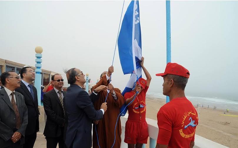 شاطئ أكلو يحصل على علامة اللواء الازرق لسنة 2015