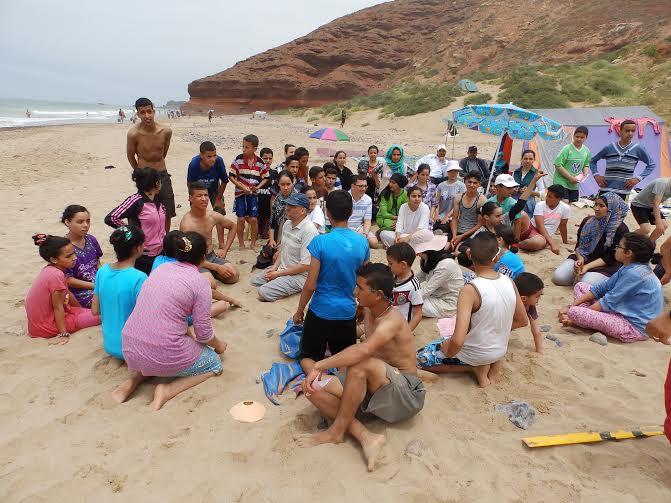 اعدادية الزيتون بأولاد جرار في رحلة ترفيهية لشاطئ الكزيرة