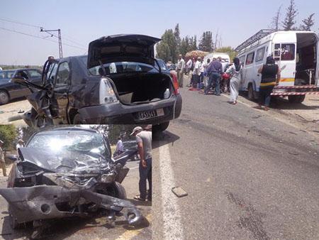 حادثة سير لمسؤول بالمديرية الجهوية للاتصال بالداخلة قرب مدخل مدينة تيزنيت