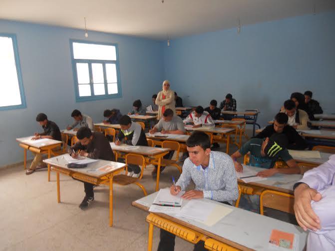 مواقيت امتحانات السنة الثالثة ثانوي إعداي للمترشحين الاحرار باقليم تيزنيت