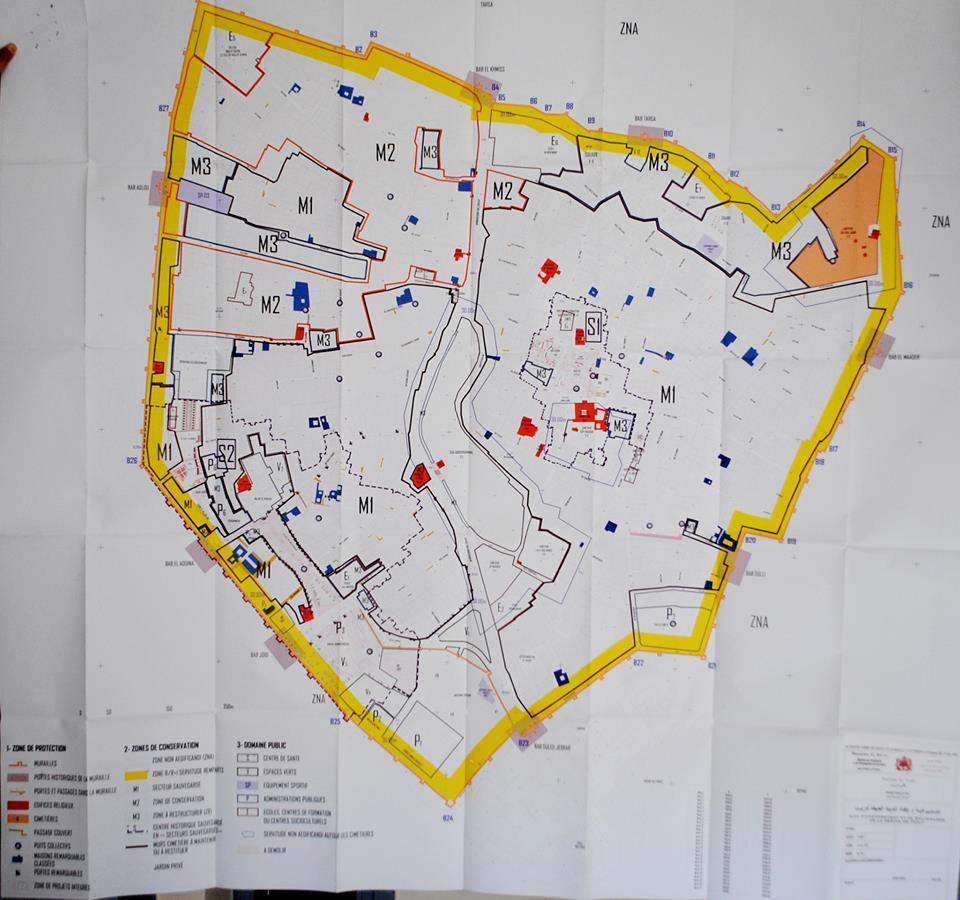 إعلان للعموم بإيداع مشروع تصميم التهيئة ورد الاعتبار للمدينة العتيقة لتيزنيت وضابطته بمقر الجماعة