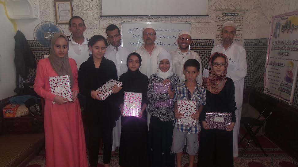 كتاب مسجد السنة يتوج مجموعة من التلاميذ في مسابقة حفظ وتجويد القرآن الكريم