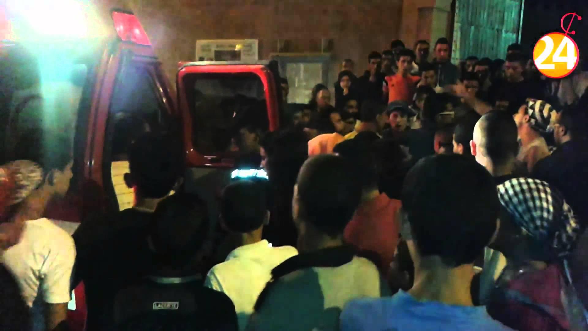 اصابة فتاة بحجارة فى حفل بقصبة أغناج
