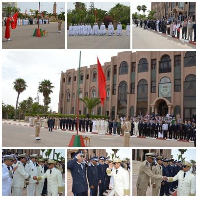 تيزنيت : تحية العلم بمناسبة عيد العرش وتوشيح الموظفين بأوسمة ملكية