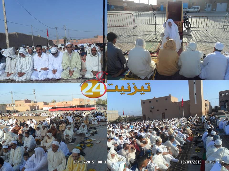صور من مصلى ساحة مسجد أكادير بحي دوتركا يوم عيد الفطر