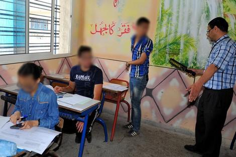 تلميذ يتعرَّى وسط قاعة الامتحان في الدورة الاستدراكية