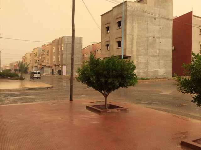 أمطار رعدية مفاجئة بتيزنيت