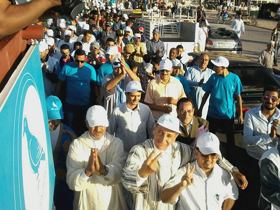 بالصور : مسيرة حاشدة لحزب التجمع الوطني للاحرار تجوب شوارع تيزنيت