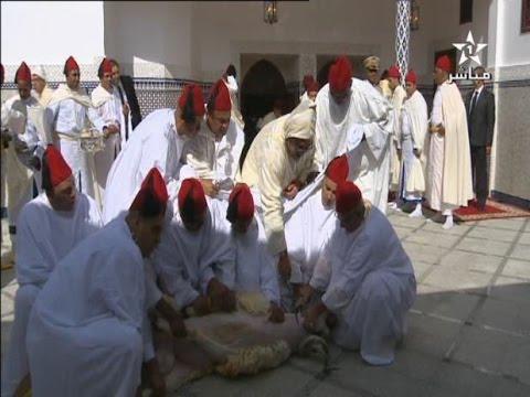الملك محمد السادس ينحر الأضحية بعد أداء صلاة العيد