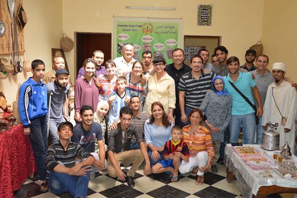 زيارة مؤسسة إسباينة  لجمعية تحدي الإعاقة بتيزنيت