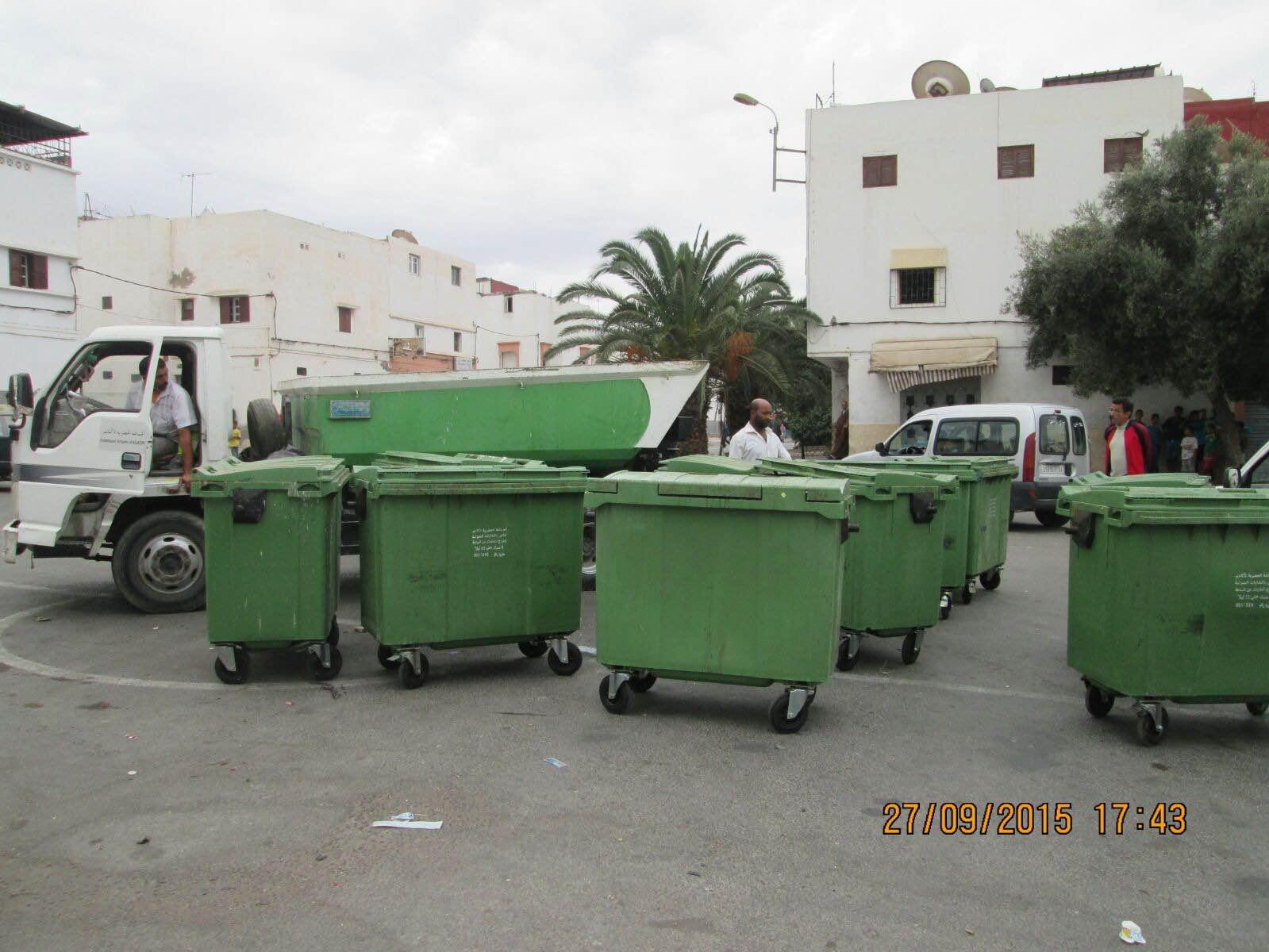 ما مدى صحة خبرإحراق حاويات الأزبال بحي مولاي رشيد (العزيب ) باكادير ؟