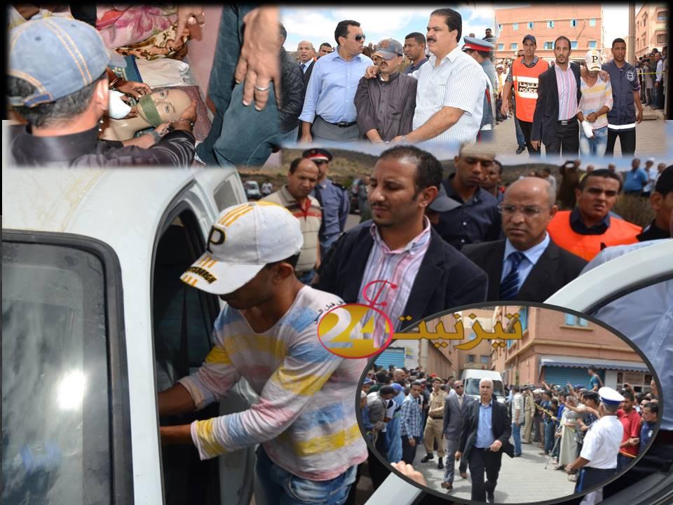 صور تمثيل جريمة قتل موزع الدجاج بمدينة تيزنيت