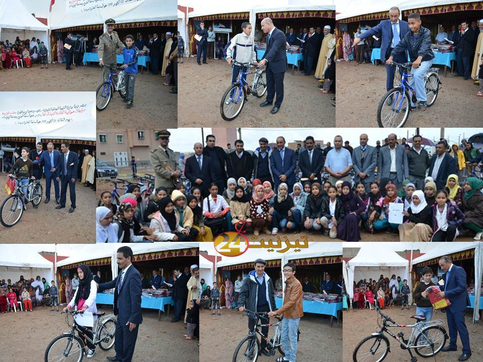توزيع الدراجات الهوائية على تلاميذ الأحياء المدمجة