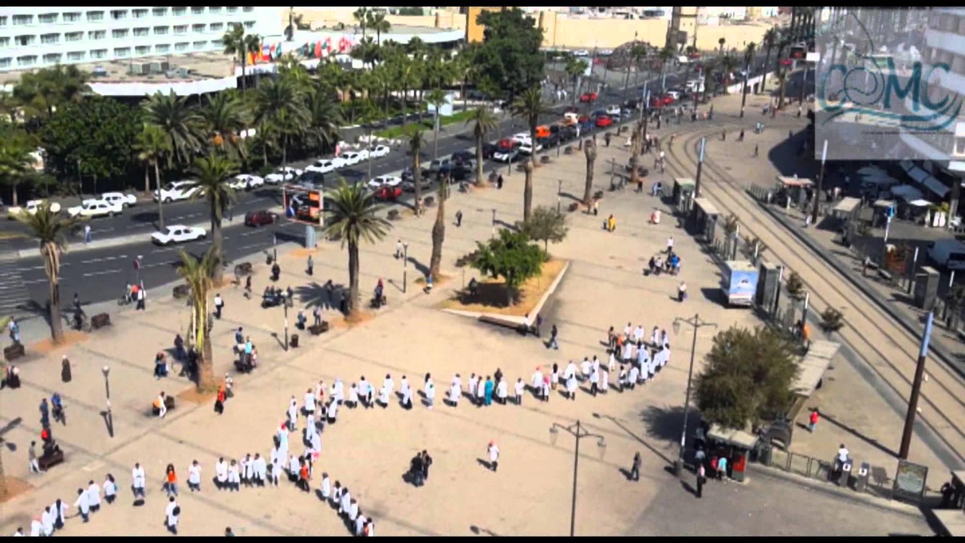 احتجاج الطلبة الأطباء / فيديو