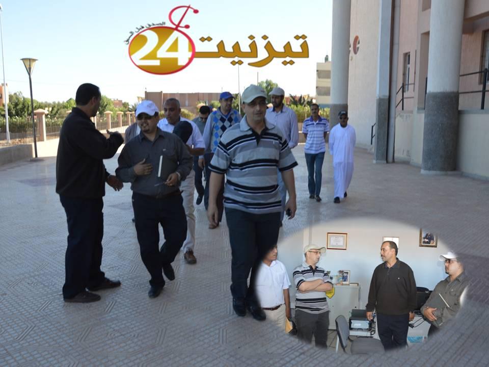 روبورطاج مصور عن زيارة أعضاء بلدية تيزنيت للمرافق الرياضية