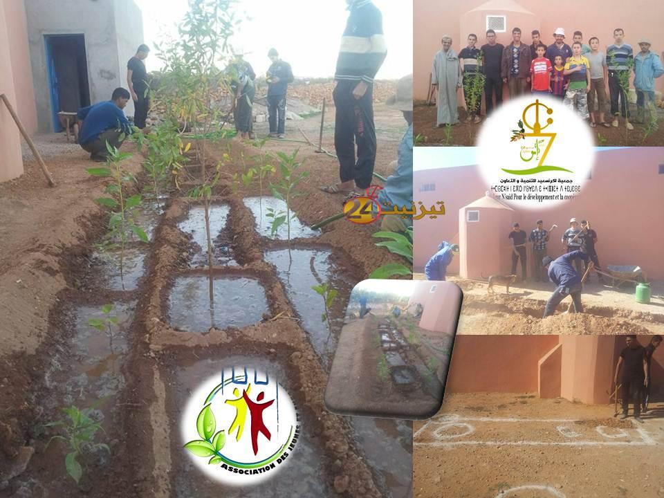 جماعة الساحل : حملة التشجير بدوار اكرنسعيد بين جمعية اكرنسعيد و جمعية الشباب و الطفل.
