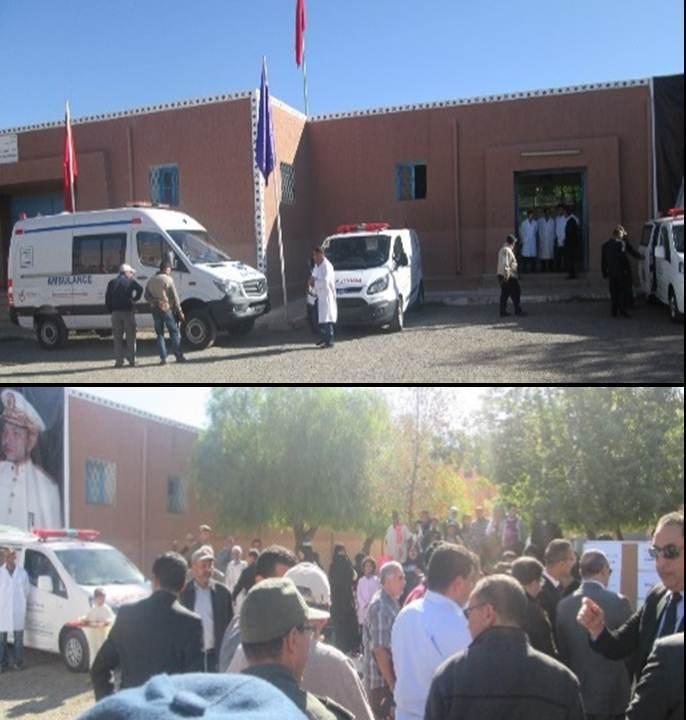 تافروات : تسليم سيارتي إسعاف ووحدة للإسعاف الطبي المستعجل في إطار مشاريع المباردة الوطنية للتنمية البشرية.