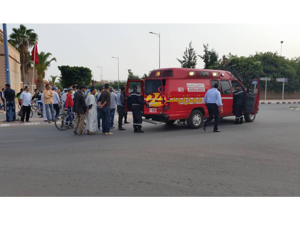 حادثة سير تخلف جريحين بالمدار الحضري لتيزنيت