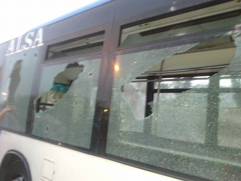 خسائر فادحة لشركة النقل الحضري باكادير الزا جراء اعمال الشغب