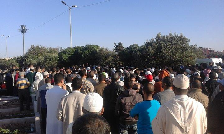 الحاج أحمد امنتاك يوارى الثرى بمقبرة اموكاي بالدشيرة الجهادية