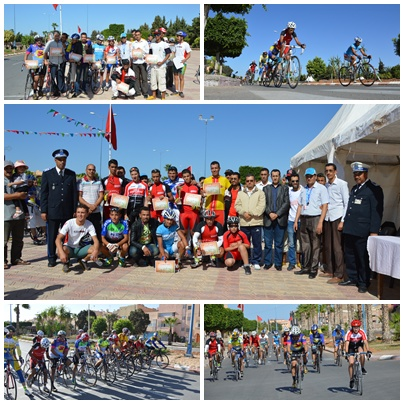 سباق الدراجات بتيزنيت بمناسبة المسيرة الخضراء