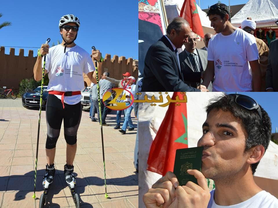 مسيرة من شمال المغرب إلى جنوبه بواسطة الزلاجات