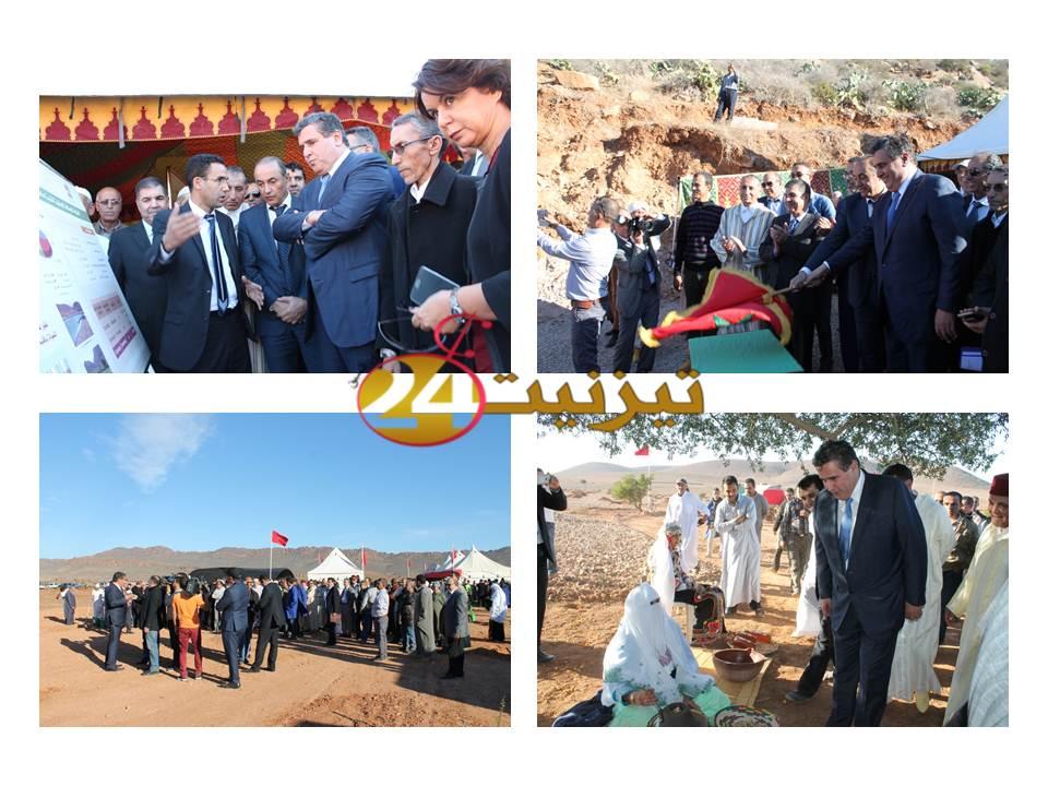 وزير الفلاحة وعامل إقليم تيزنيت يعطيان انطلاقة مشروعين بمنطقة إرسموكن