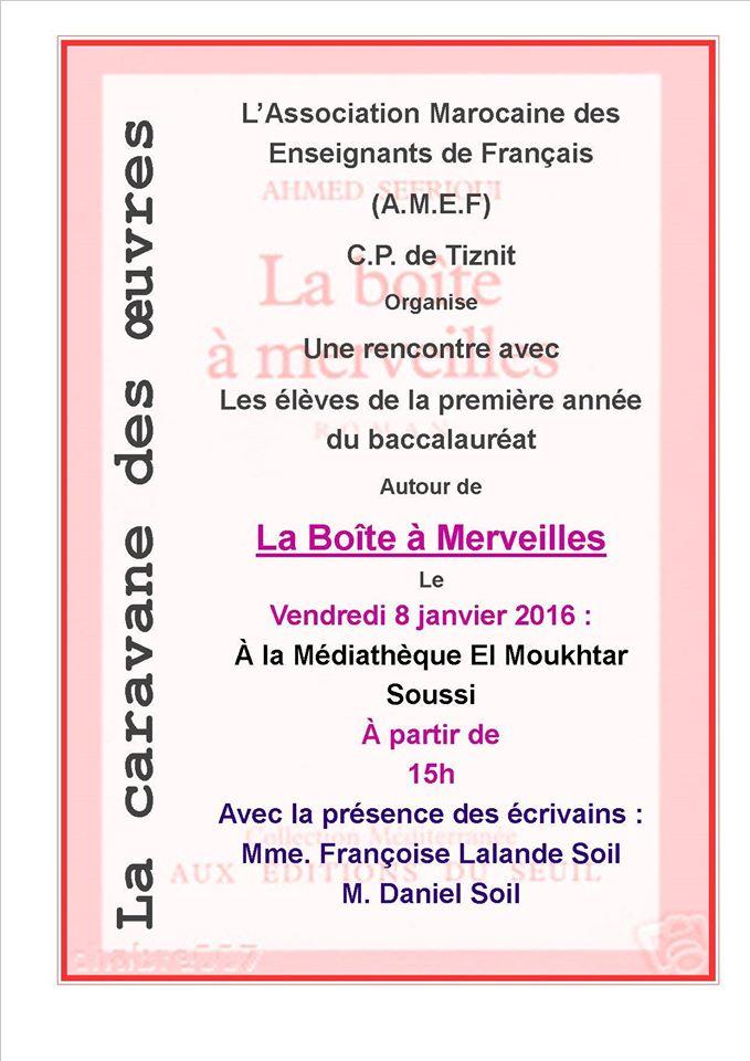 الجمعية المغربية لمدرسي اللغة الفرنسية فرع تيزنيت ينظم قافلة المؤلفات