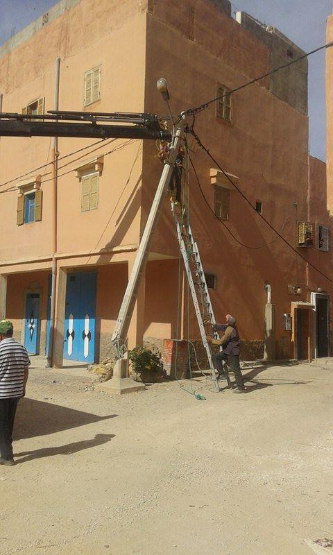 أولاد جرار : إصلاح العمود الكهربائي الآيل للسقوط بطلب من المجلس الجماعي