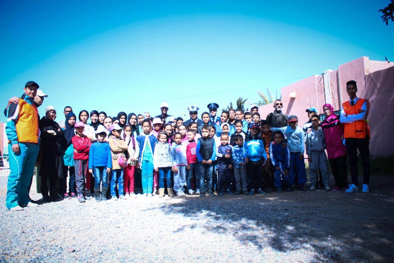 جمعية الشعلة للتربية و الثقافة بتيزنيت تحتفي باليوم الوطني للسلامة الطرقية