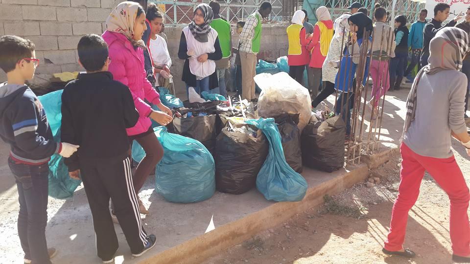 حملة نظافة ناجحة لأربع جمعيات بحي النخيل / مرفق بصور