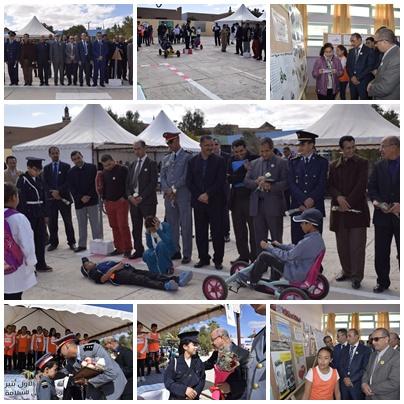 احتفال مدرسة الحسن الاول باليوم الوطني للسلامة الطرقية