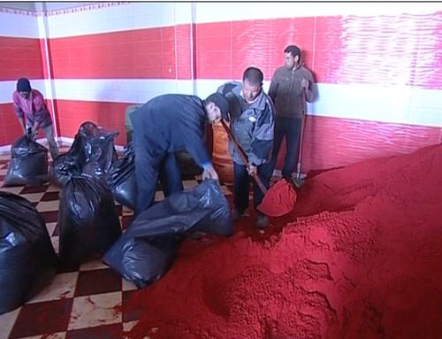 حجز واتلاف 2 طن من الفلفل الأحمر في عملية لمحاربة الغش