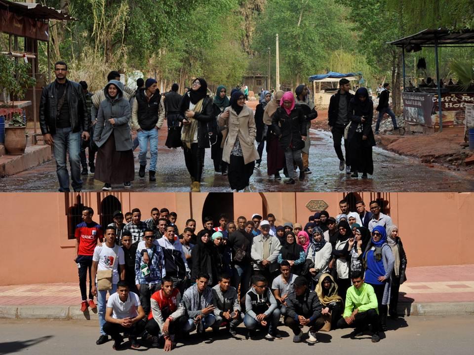 رحلة دراسية لتلاميذ ثانوية السلام التأهيلية بالركادة إلى مراكش