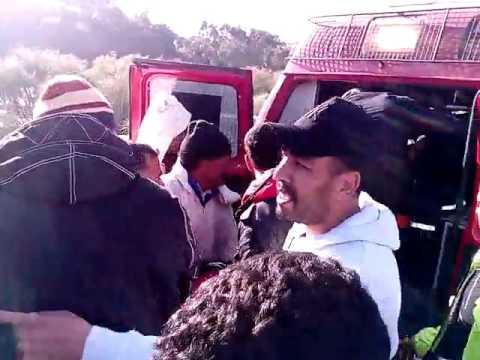 حادثة خطيرة : 17 مصابا في انقلاب سيارة كانت متوجهة للرباط