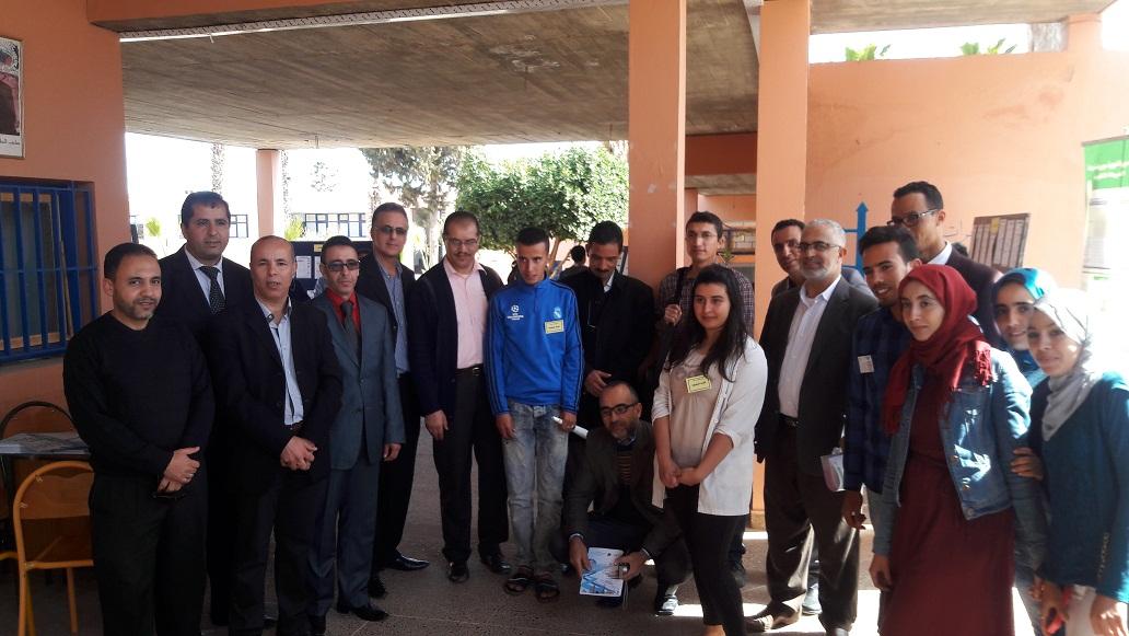 تيزنيت : افتتاح ايام الاعلام والمساعدة على التوجيه بثانوية الوحدة
