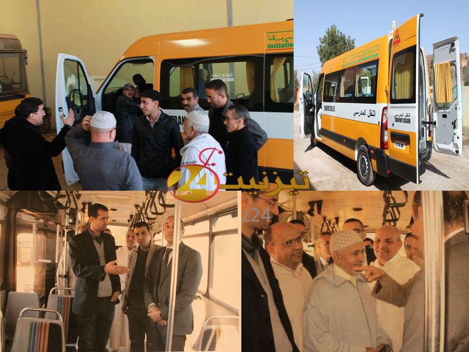 أسطول النقل المدرسي لجمعية إمازالــن بجماعة أربعاء رسموكة يتعزز بحافلة جديدة من الحجم المتوسط