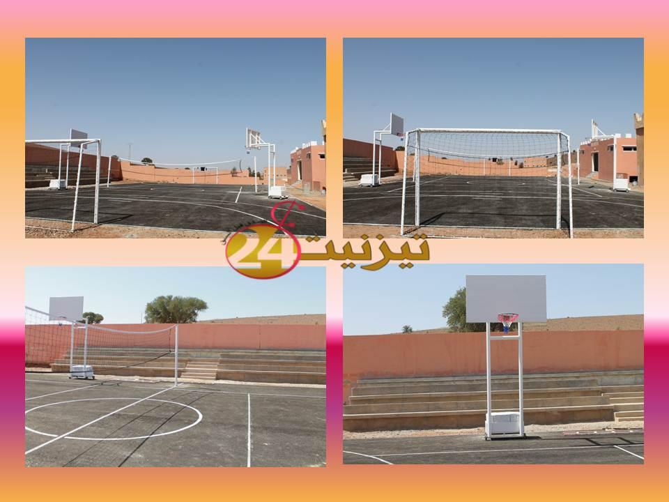 بالصور: فضاء رياضي بدار الطالب (ة) رسموكة