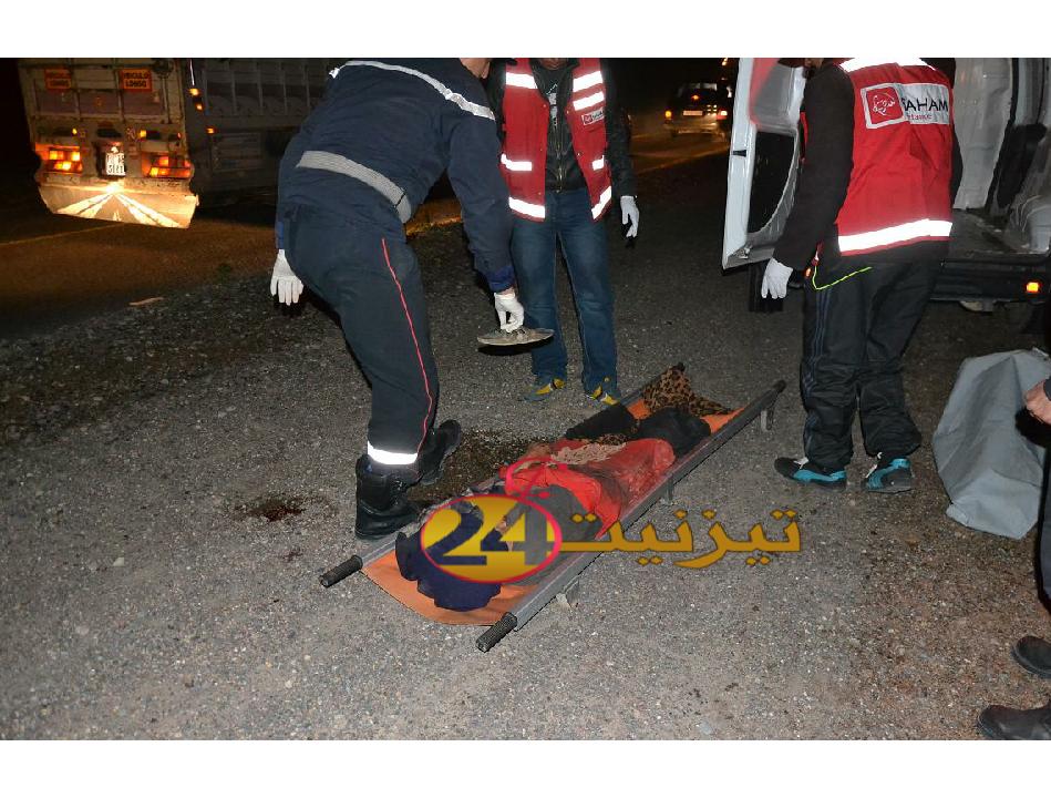 مقتل مختلة عقليا معروفة بتيزنيت في حادث سير مميت