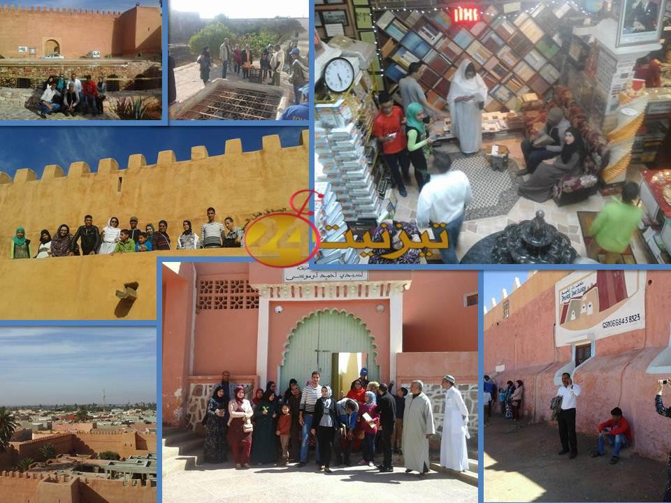 طلاب التاريخ و الحضارة بجامعة ابن زهر في زيارة دراسية لمدينة تيزنيت