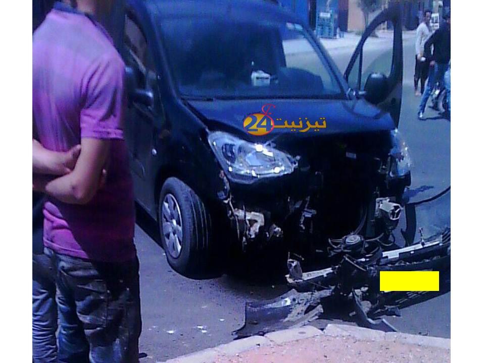 حادثة سير في حي افراك بتيزنيت
