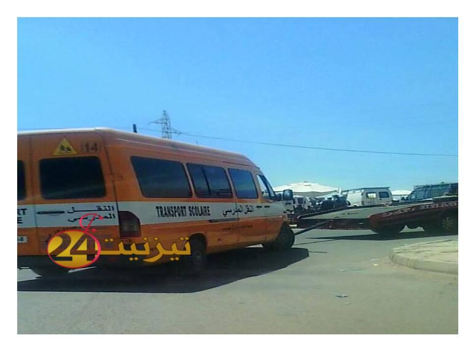 حافلة للنقل المدرسي بتيزنيت تقتل طفلة في ربيعها الثالث/ صور خاصة