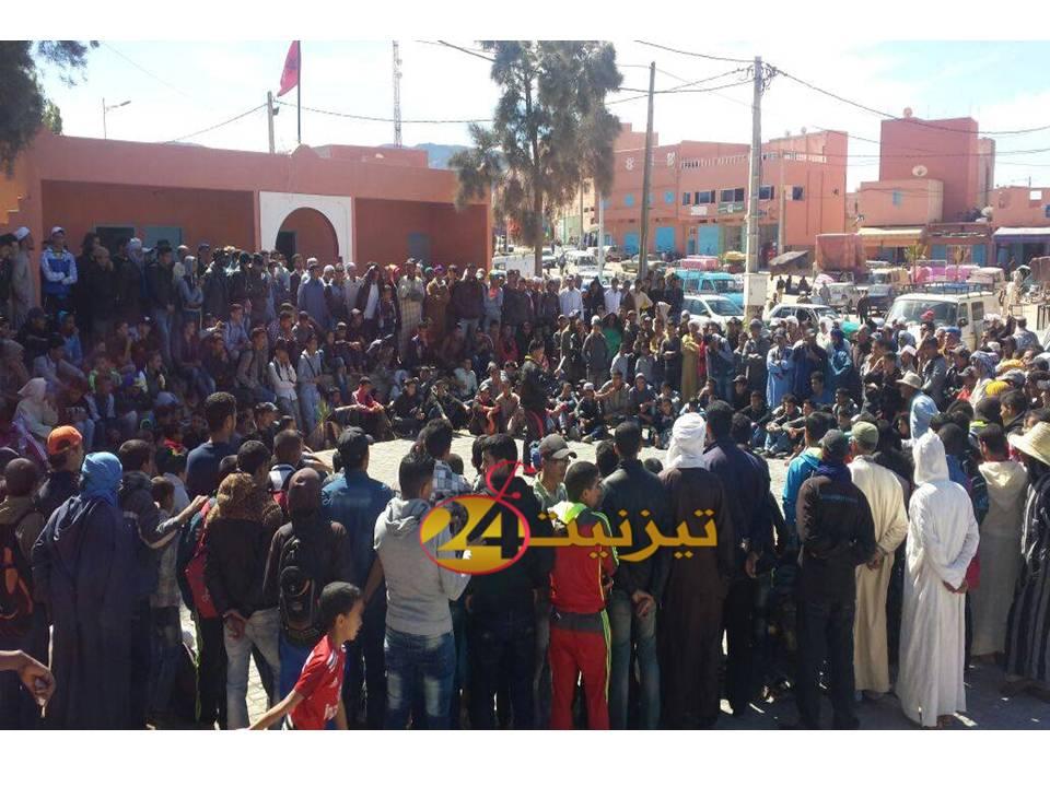 سيدي افني :مسيرة تلاميذية حاشدة تجوب شوارع جماعة تيوغزة