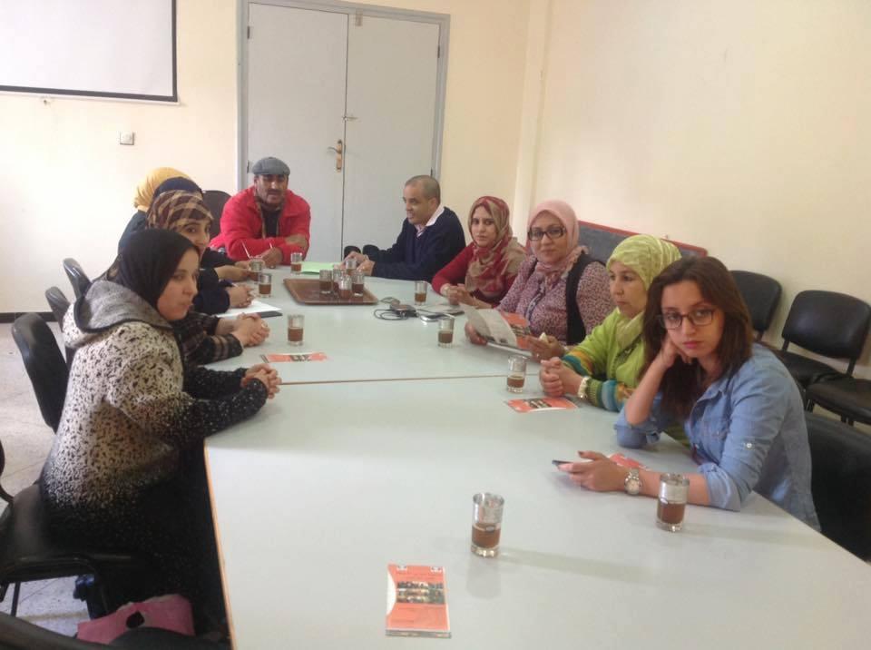 منظمة المرأة التجمعية بتيزنيت في زيارة استطلاعية للمركب الاجتماعي لذوي الاحتيجات الخاصة التابع لجمعية تحدي الاعاقة بتيزنيت