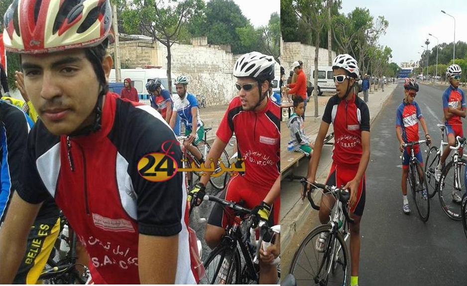 نادي امل تيزنيت للدراجات يستقل سيارات الاجرة للمشاركة في سباق و طني للدراجات باكادير