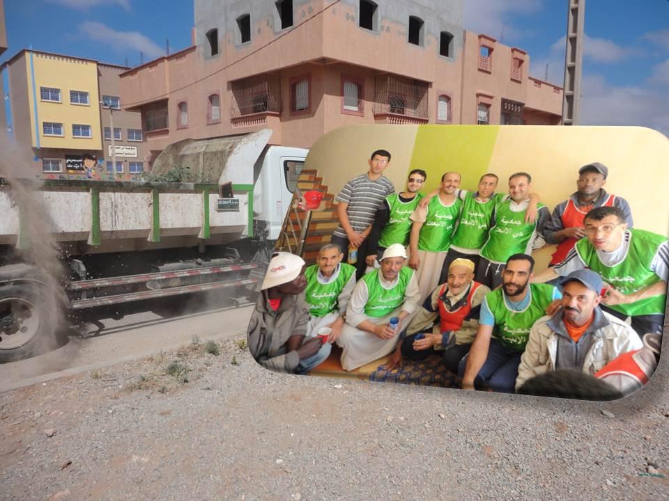 جمعية حي الإنبعاث تنظم حملة نظافة بمشاركة مكثفة لساكنة الحي